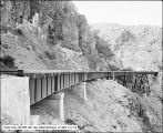 Bear River Canyon, Railroad Track on Side Canyon