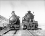 Bingham and Garfield Railroad Engines Front View