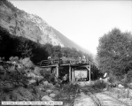 Unloading Ore at Railroad at Wasatch