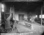 Numa Drill Sharpener Company, Interior of Blacksmith Company