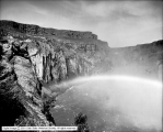 Shoshone Falls, Below Falls with Rainbow