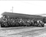 Crowd at Oregon Short Line Depot