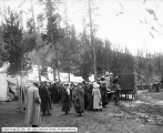 Commercial Club Party at Gibbon, Yellowstone Park