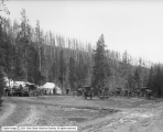 Rigs at Gibbon from North, Yellowstone Park