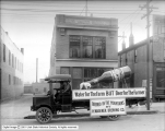 H. Wagener Brewing Company Float, Buildings in Background