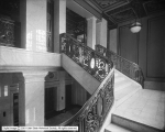 Walker Bank, Interior of Lobby from Stair Landing toward Mezzanine Floor