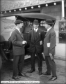R. C. Blankenship and Two Others, Auto at Oregon Short Line Depot