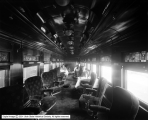 Oregon Short Line Parlor Car Interior with People
