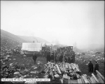 P. J. Moran's Camp, Big Cottonwood Canyon, Inspecting Conduit