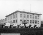 Troy Laundry Trucks and Building