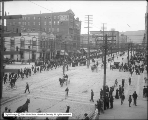 Street Car Strike Parade, Looking North From Kenyon Hotel