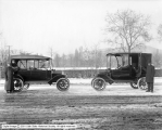 Depot Auto Service Company, Two Autos Facing Each Other