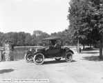 Mrs. Glendenning in Dodge Roadster