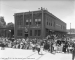 Armour and Company, Showing Crowd Around Building