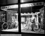 Meredith Motor and Bicycle Company Window, Night