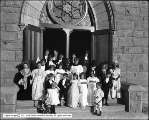 Group of Children in Front of Church
