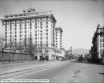 South Temple Showing Hotel Utah and New Administration Building
