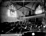 Harry Shipler Photographing Presbyterian Church Interior
