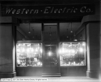 Western Electric Company Window at Night