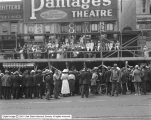 Crowd in Front of Pantages Theatre
