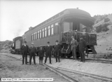 Group at Soldier Summit, Denver and Rio Grande Railroad
