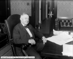 Governor Simon Bamberger at Desk at Capitol