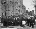 Funeral Group in Front of St. Mary's [Cathedral of the Madeleine]