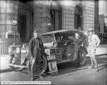 Douglass C. Rhodes, Superintendent of Construction, Auto Club of Southern California, in Front of...