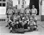 Botterill Auto Company, Baseball Team In Front of Store