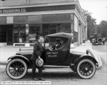 Botterill Auto Company, One-Half Million Dodge in Front of B. F. Goodrich Rubber Company