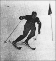 Jack Reddish competing in the 1948 Winter Olympic Games held at St. Moritz, Switzerland, February...