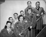 Members of the 1948 U.S. Olympic Ski Team.  L to R, front row: Brynhild Grasmoen, Dodie Post, and...