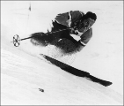 Jack Reddish skiing during the mid to late 1940s.