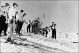 Jack Reddish at the start of the Snow Cup race, Alta, Utah, circa 1951.