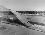 Summer ski jumping hill at the Utah State Fairgrounds in Salt Lake City, September 1953.