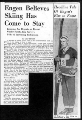 1939 article discussing the enthusiasm for skiing in the intermountain west and some of the ski...