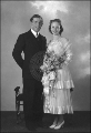 Alf and Evelyn Engen on their wedding day, December 23, 1937 in Centerville, UT.