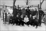 Instructors present for the first session of the Deseret News Ski School held December 18, 1948 at...