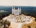 Aerial view of the newly completed Washington D.C. Temple.