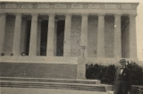 A. Selden Millward at the Lincoln Memorial.
