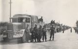 """Moving North from Ghedi to Lecce.  German owned Italian first trucks.  Stopping for a quick..."