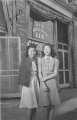 Yasuko Kawakami and Susie Ariyoshi in front of Japanese Town Sunrise Fish Market.