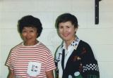 Ida Tateoka and Karen Tobin at the Colorado Springs Invitational, September 1995.