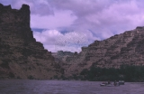 2nd day; 5/30/64.  Boats in Tavaputs Gorge;