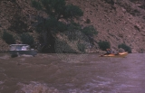 2nd day; 5/30/64.  In Tavaputs Gorge-Dr. Ross boat & Brennan boat (Larry & Dick);