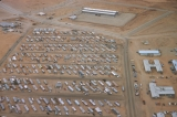 Aerial of construction camp