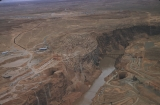 Aerial photos of dam site and Page, Arizona