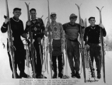 Alta jumpers in the early days. L - R: Alf Engen, Mac Maeser, Dev Jennings, Dave Quinney, Jack...