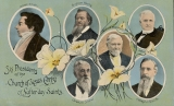 [Portraits of the first six Presidents of the Church of Jesus Christ of Latter-day Saints.  Joseph...