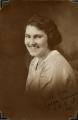 1921.  Golda Dansie with the beautiful complexion, smile, clothes, and sheer cleanliness. ...